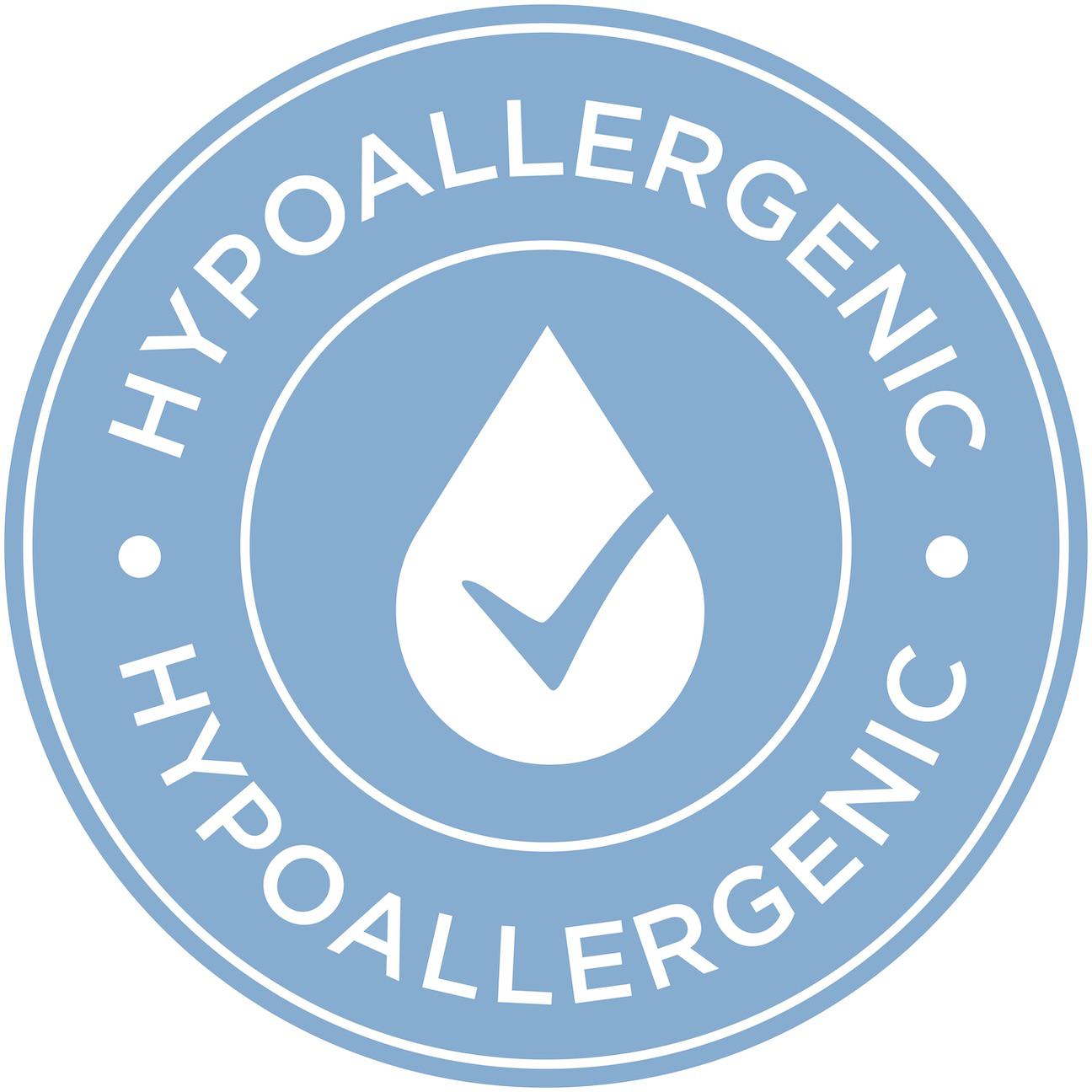 Blue hypoallergenic certificate symbol